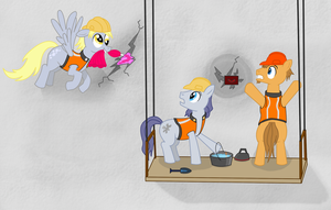 Derpy Helps Fix Ponyville's Dam by LaptopGun