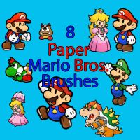 8 Paper Mario bros. Brushes by lilchip85