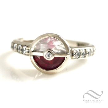 Pokeball Engagement Ring by mooredesign13