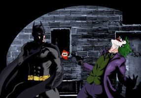 Batman vs Joker by deanfenechanimations
