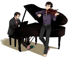 House and Sherlock by vivzer