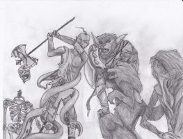 Contest Entry: Manly Monsterous Half-Orc Showdown! by CrypticGrin