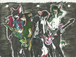 Furry Metal: Furry Band by EmoFox721