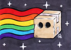 Schrodinger's Nyan ACEO by CraigMichaelScott