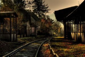 Lost railroad station... by Photograficzny