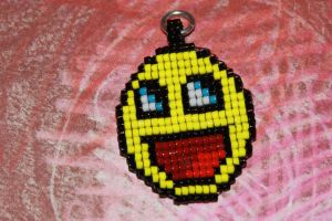 Beaded Awesome Face Pendant by purpleyoshi1