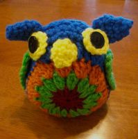 Granny Square Owl by MadeWithLove8