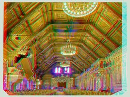 Ballroom of the Wartburg 3D by zour