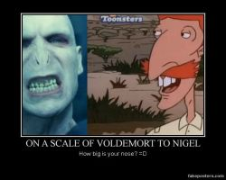 Voldemort and Nigel Thornberry motivational by neo-usagi