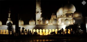 Zayed  Mosque from afar by iraqiguy