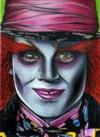 Mad Hatter Sketch Card by RandySiplon