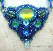 Beach Glass Necklace by Beadmask
