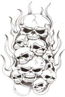 Skulls and Flames 2 by TheLob