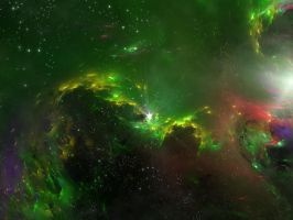 green nebula by alwahied