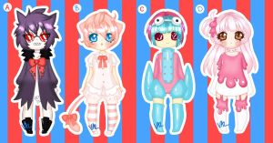 Pokemon Gijinka Adopts [AUCTION] (CLOSED) by lifeforce10