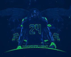 Marshawn Lynch by dmhtfld