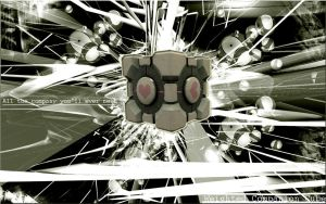 Wallpaper 6 Companion Cube by IIX4II
