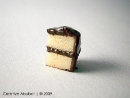 My 1st Polymer Cake Slice by CreativeAbubot