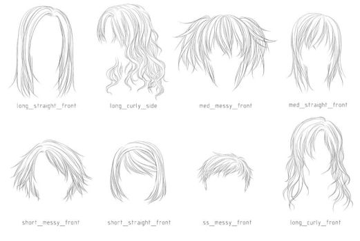 Lineart Hair Brushes 3 by sm-exery