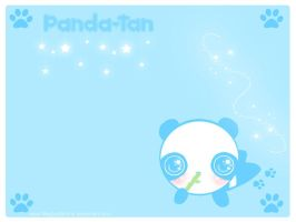 Panda-Tan Wallpaper by MagicalBunny