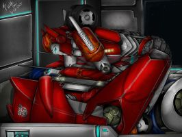 TFP Optimus and Causeway-  Our Time- by LadyElita-Arts