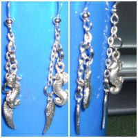 Seahorse and Wing Earrings by Jofrenchie