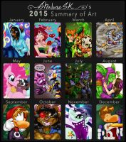 Art Summary Of 2015 by shaloneSK