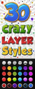 Colourful 3D PS Layer Styles by Giallo86