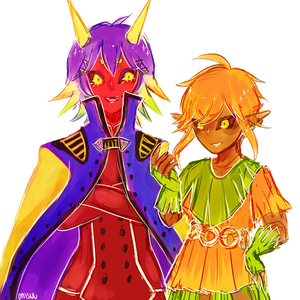 Majora and Skull Kid by onisuu