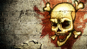 HD Grunge Skull Wallpaper by pR1m3vil