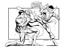 Superman vs. Karate Kid by DerecDonovan