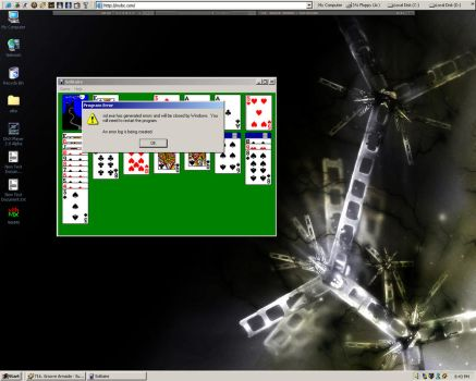 HAHAHA I broke SOLITAIRE by texas