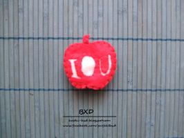Sherlock IOU apple - felt badge by nezstorm