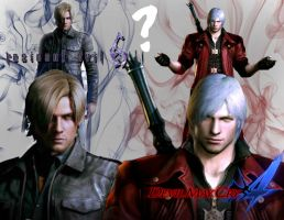 Leon Kennedy Resident Evil 6 and Dante DMC4 by Taurimaru