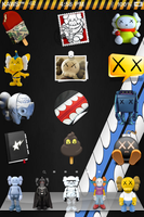 Kaws Icons Pack 4 iPhone 2 by djcavemann