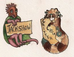 Chibi Badges: Jackshow+ by CannedTalent