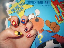 Comics Nail Art by didoo0501