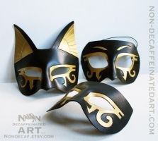 Three Egyptian Masks by nondecaf
