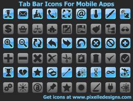 TabBar Icons For Mobile Apps by Iconoman