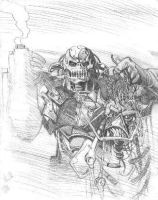 Death's Head prelim by LiamSharp