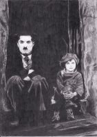 Charlie Chaplin and The Kid by Cerera