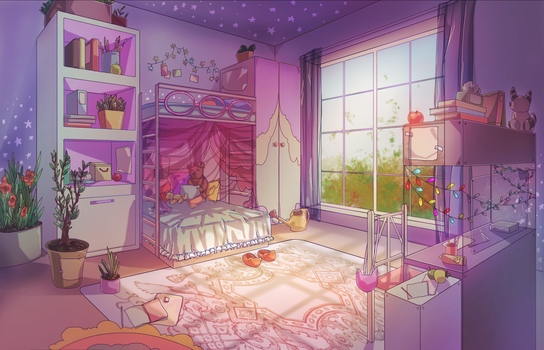 Shiomi's room by Lilac-Patal