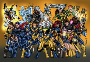 X-Men Group by MarcBourcier