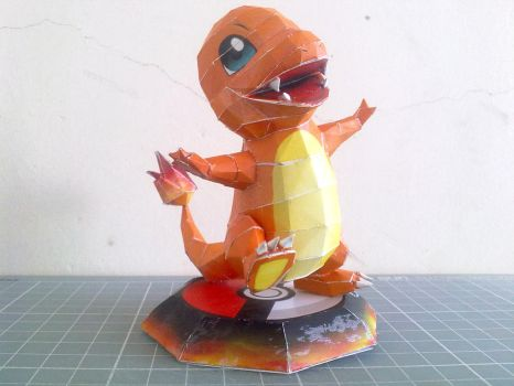 Papercraft - Charmander 01 by ckry