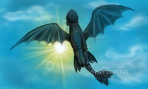 HTTYD - Flying Night Fury by Yoshi66666666
