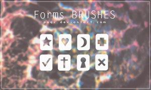 {Forms - Brushes} by Poqi