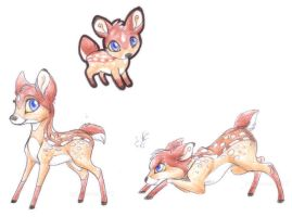 Faura the litle Fawn by PoonieFox