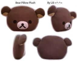 Rilakkuma Bear Pillow Plush by LiliNeko