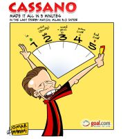 Cassano made it all in 5 minut by OmarMomani