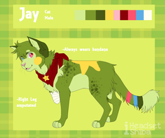 Jay reference sheeet by iHeadsetShiba